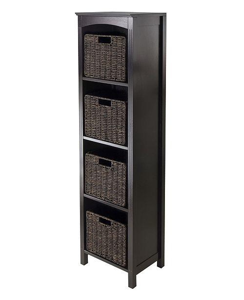 Winsome 5Pc Storage 5-Tier Shelf with 4 Small Baskets
