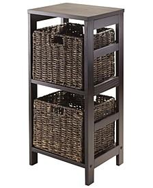 Granville 3Pc Storage Shelf with 2 Foldable Baskets