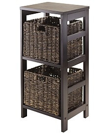 Winsome Granville 3Pc Storage Shelf with 2 Foldable Baskets