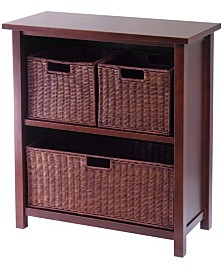 Winsome Milan 4Pc Cabinet-Shelf with 3 Baskets