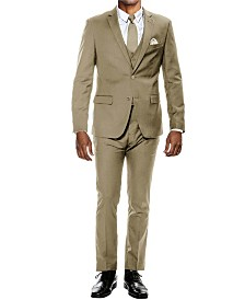 Men's Stretch Ultra Slim Fit 3-Piece Solid Suit