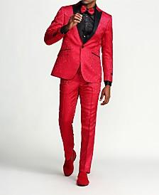 Men's Slim Fit Plaid Peak Lapel Two-Piece Suit