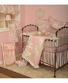 Heaven Sent Girls' 4-Piece Crib Bedding Set