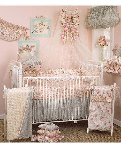 AFG Baby Furniture Tea Party 12-Piece Crib Bedding Set Set