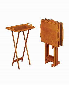 Duncan 5-Piece Tray Table Set