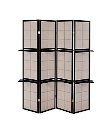 Edmond 4-Panel Screen with 4-Shelf