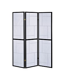 Kingston 3-Panel Folding Floor Screen