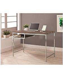 Lincoln Rectangular Writing Desk with Shelf