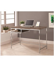 Lincoln Rectangular Writing Desk with Shelf