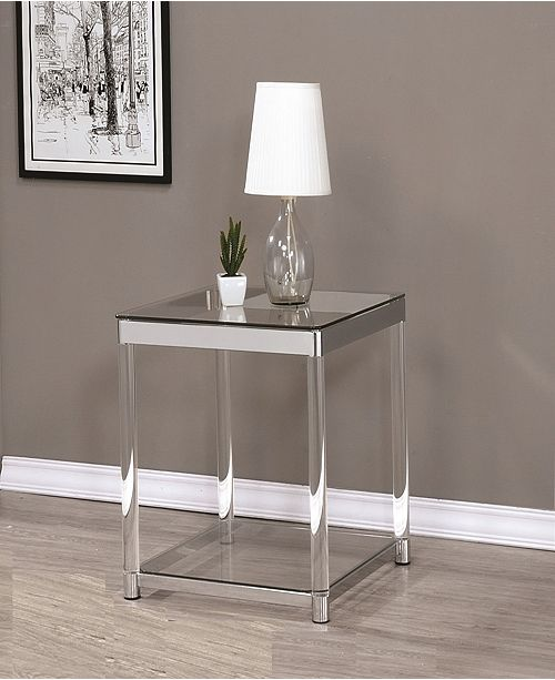 Coaster Home Furnishings Riverside Square End Table with Shelf