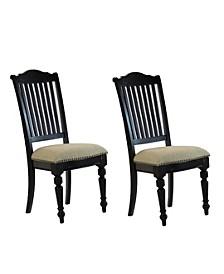 Bailey Slat Back Side Chairs Vintage (Set of 2)