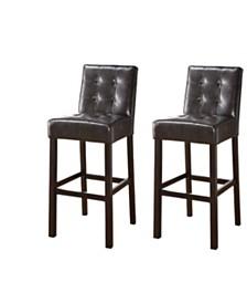 "Armani 29"" Upholstered Bar Stools (Set of 2)"