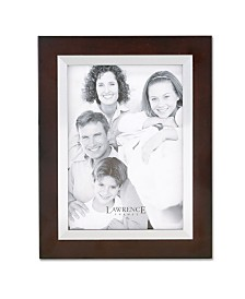 "Lawrence Frames Walnut Wood with Silver Metal Inner Bezel Picture Frame - 11"" x 14"""