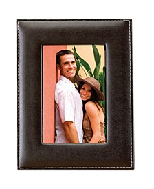 """Dark Brown Leather Picture Frame - 8"""" x 10"""""""