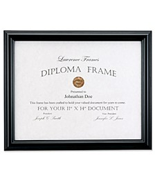 "Black Diploma Frame - Domed Top - 11"" x 14"""