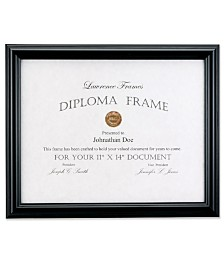 "Lawrence Frames Black Diploma Frame - Domed Top - 11"" x 14"""