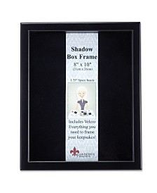 "Lawrence Frames 790080 Black Wood Shadow Box Picture Frame - 8"" x 10"""