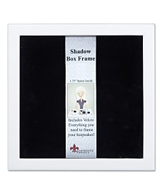 "Lawrence Frames 790212 White Wood Shadow Box Picture Frame - 12"" x 12"""