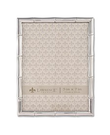 "710157 Silver Metal Bamboo Picture Frame - 5"" x 7"""