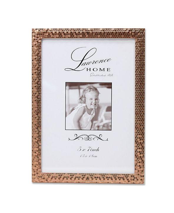 """Lawrence Frames Rose Gold Shimmer Metal Picture Frame - 5"""" x 7"""""""