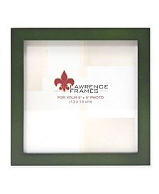 "Green Wood Picture Frame - Gallery Collection - 5"" x 5"""