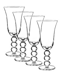 Qualia Glass Orbit Goblets, Set Of 4