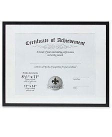 "Lawrence Frames Dual Use Black Aluminium Document Frame - 11"" x 14"""