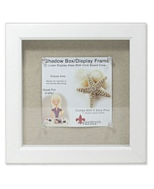 "White Shadow Box Frame - Linen Inner Display Board - 8"" x 8"""