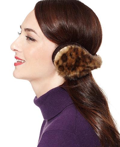 180s Vail Faux Fur Ear Warmers