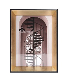 """Lawrence Frames Vanessa Contemporary Gold and Black Picture Frame - 5"""" x 7"""""""