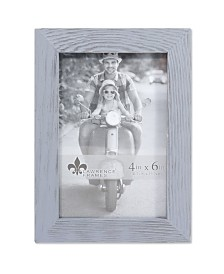 """Lawrence Frames Charlotte Weathered Gray Wood Picture Frame - 4"""" x 6"""""""