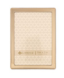 """Gold Metal Picture Frame - Classic Bead - 5"""" x 7"""""""