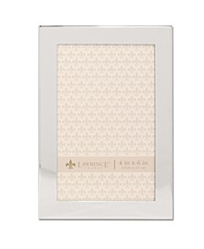 """Flat Silver Metal Picture Frame - 4"""" x 6"""""""