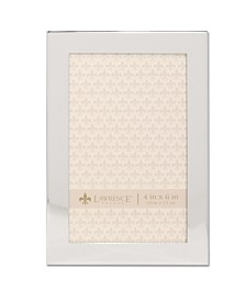 """Lawrence Frames Flat Silver Metal Picture Frame - 4"""" x 6"""""""