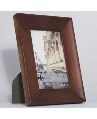Lawrence Frames 5x7 Whitney Burnished Walnut Wood Picture Frame Brown