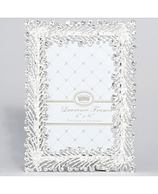 "Lawrence Frames Jasmond Silver Metal Frame with Crystal Spray - 4"" x 6"""