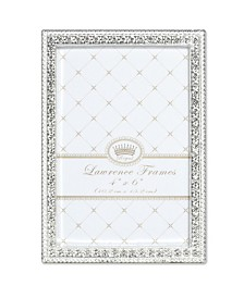 "Lawrence Frames Sarah Silver Metal Frame with Crystal - 4"" x 6"""