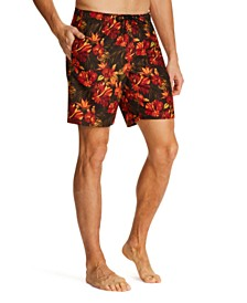 Tallia Men's Modern-Fit Multi Floral Swim Trunks