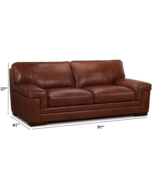 Myars 91 Leather Sofa