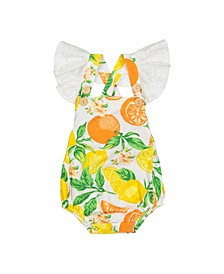 Girls Flutter One Piece Citrus Blossom