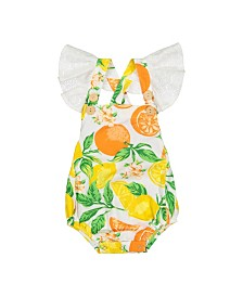 Masala Baby Girls Flutter One Piece Citrus Blossom