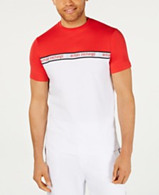 A|X Armani Exchange Men's Colorblocked Logo-Tape T-Shirt Created For Macy's