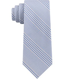 Tommy Hilfiger Men's Seersucker Stripe Silk Tie