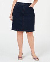 1150787d86 Charter Club Plus Size Denim Skirt, Created for Macy's