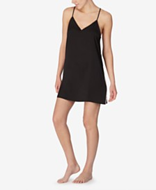 DKNY Satin Side-Striped Racerback Chemise