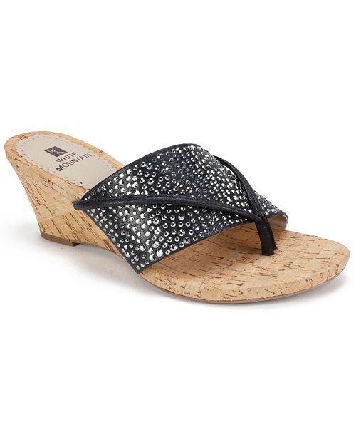 White Mountain Alexandria Wedge Sandals