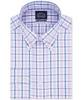 ab74ae26db Eagle Men's Classic/Regular Fit Non-Iron Flex Collar Blue Check Dress Shirt