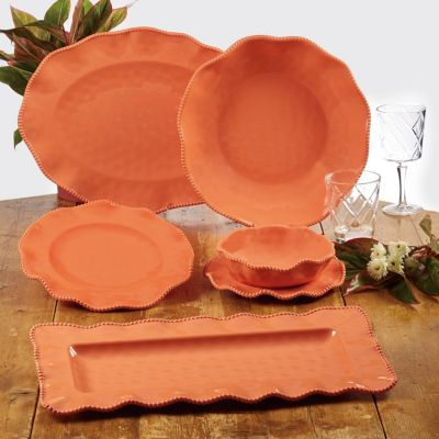 Perlette Coral Melamine 4-Pc. All Purpose Bowl Set