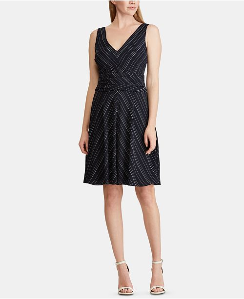 Lauren Ralph Lauren Striped Fit & Flare Dress
