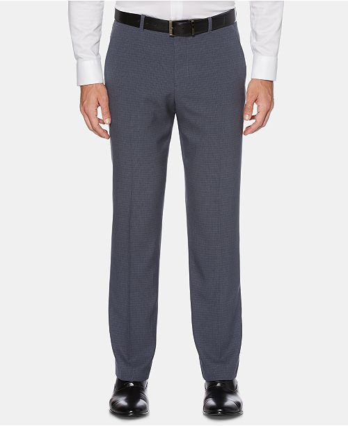 Perry Ellis Men's Portfolio Modern-Fit Stretch Moisture-Wicking Non-Iron Check Dress Pants